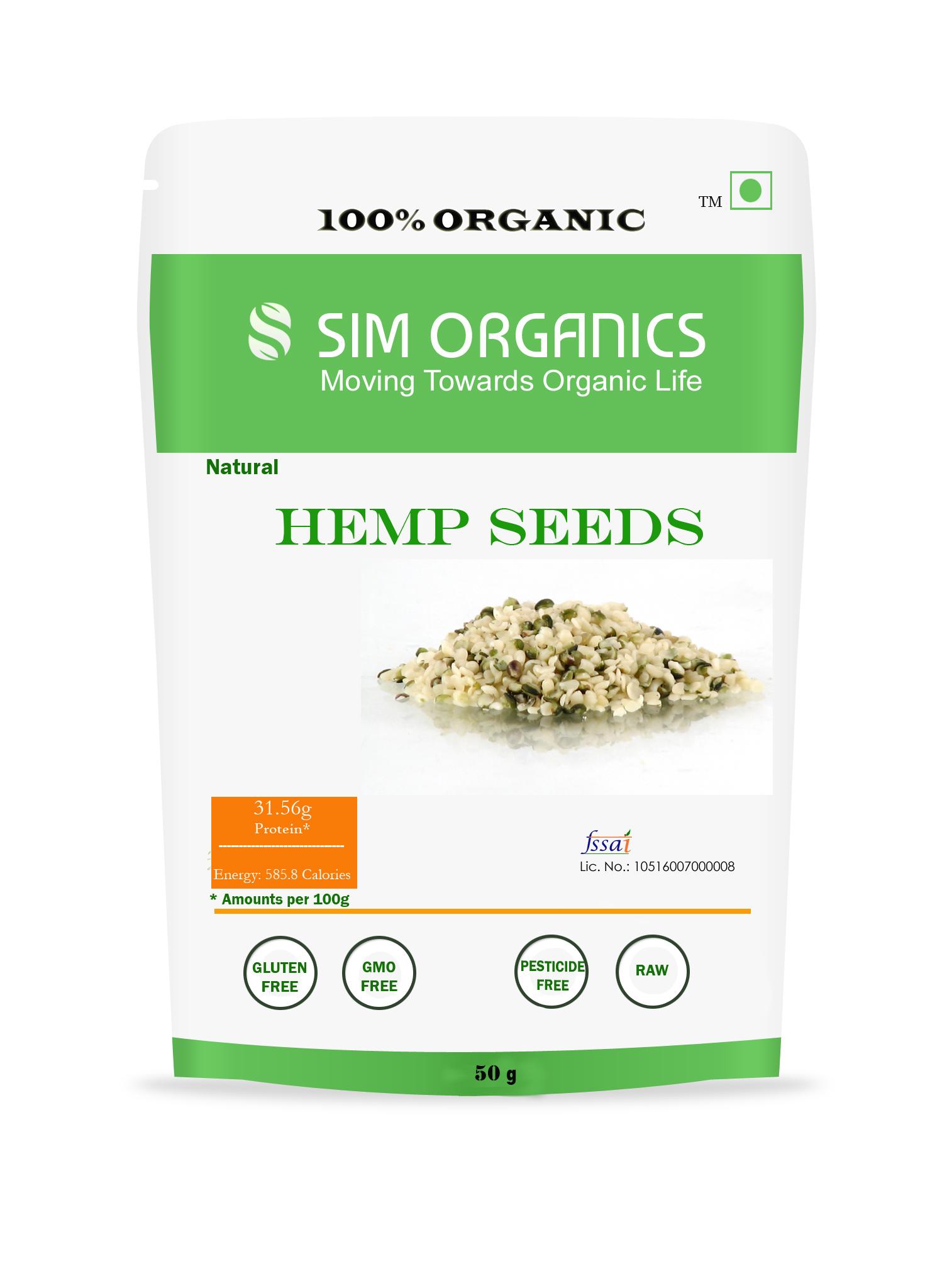 SIM Organics Hemp Seeds