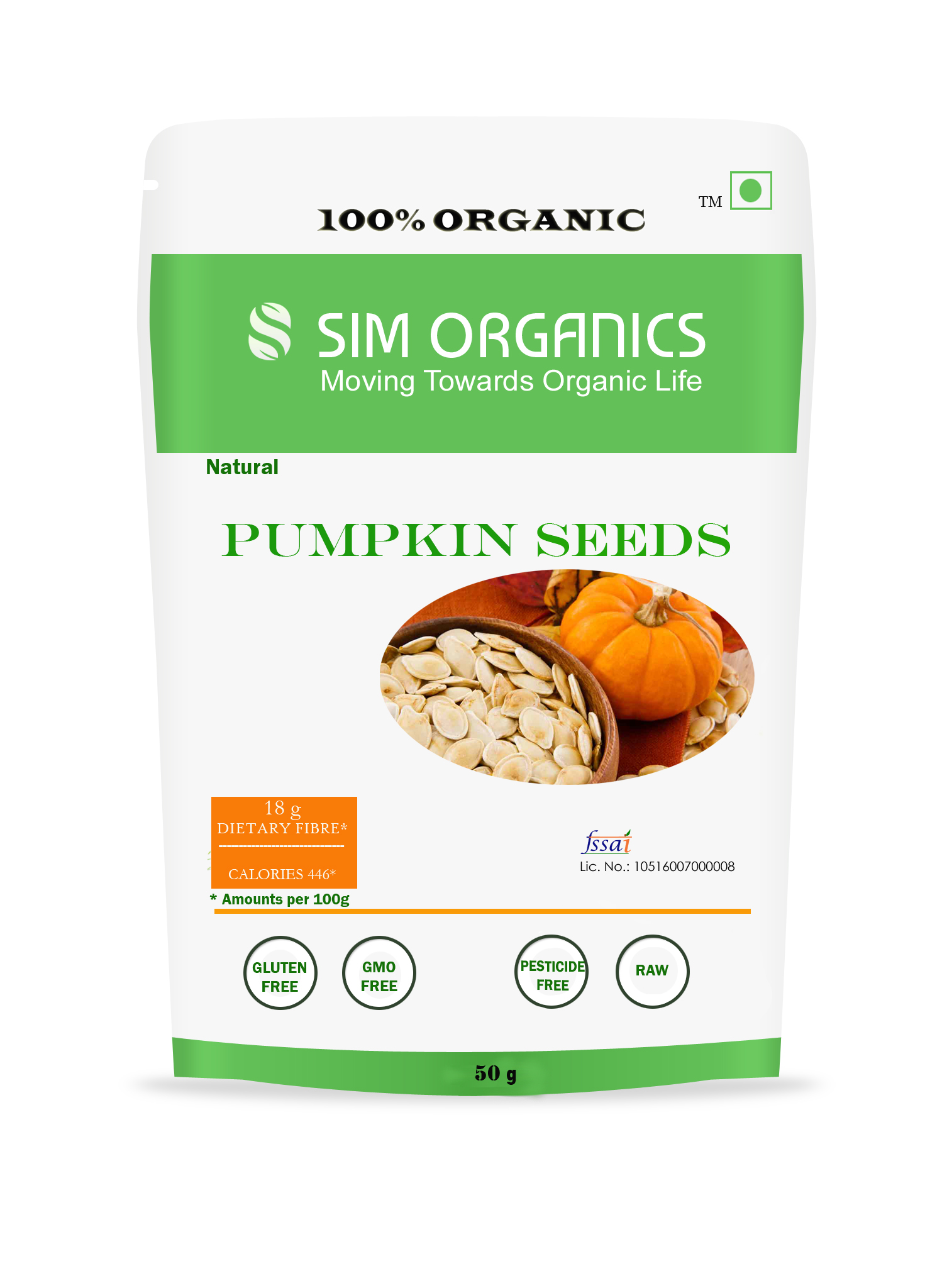 SIM Organics Pumpkin Seeds