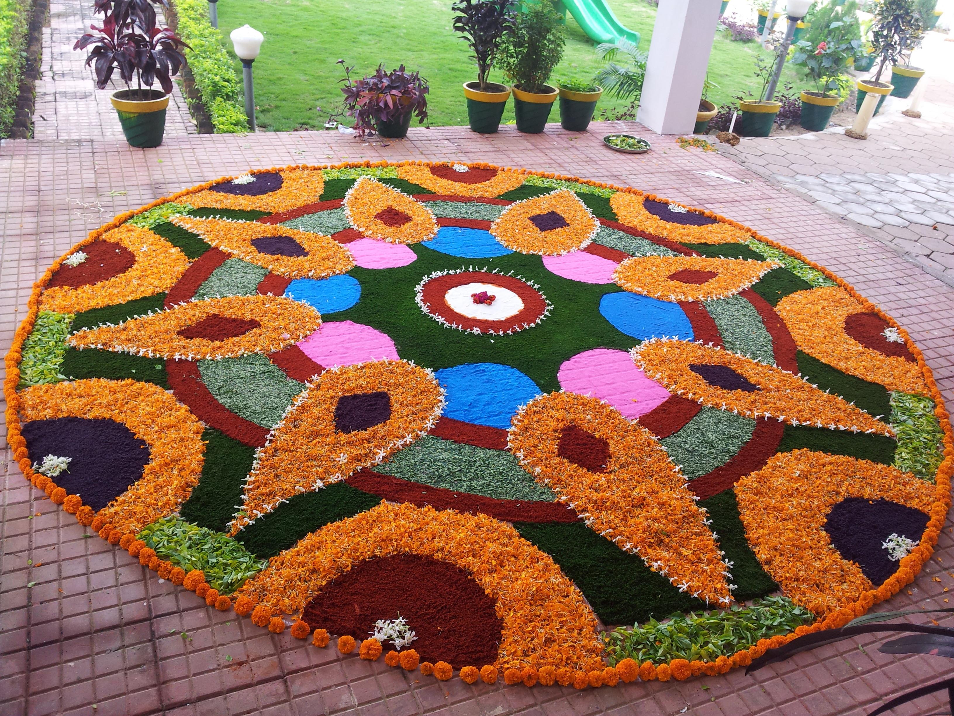 Diwali Special Flower Rangoli Simple Indian Mom