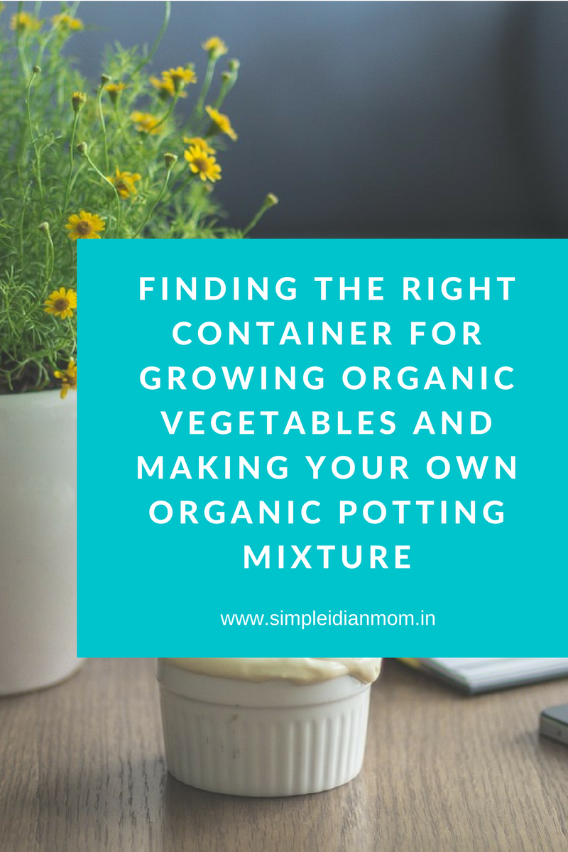 Finding the Right Pot For Growing Organic Vegetables and Making Your Own Organic Potting Mixture (1)