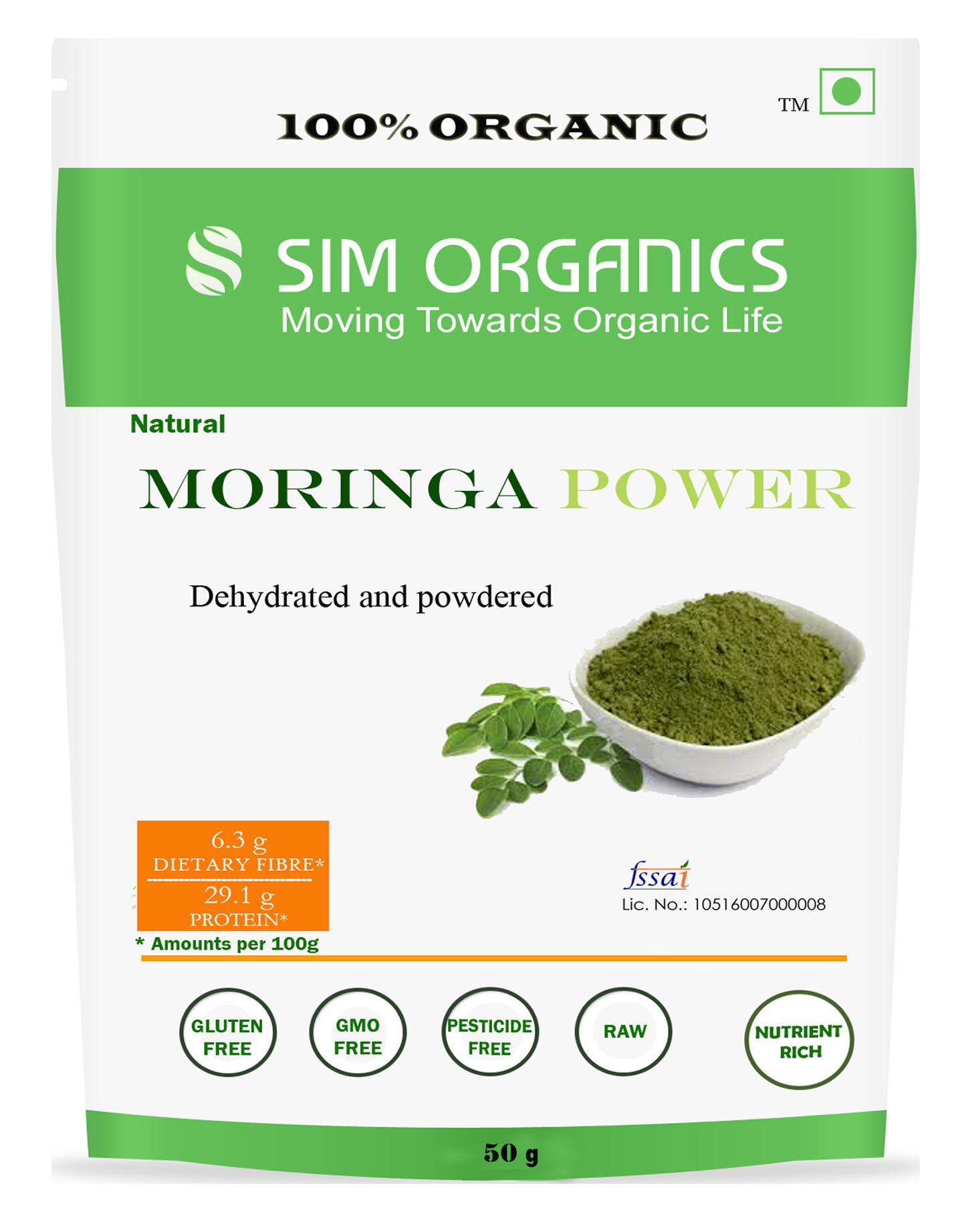 SIM Organics Moringa Podwer