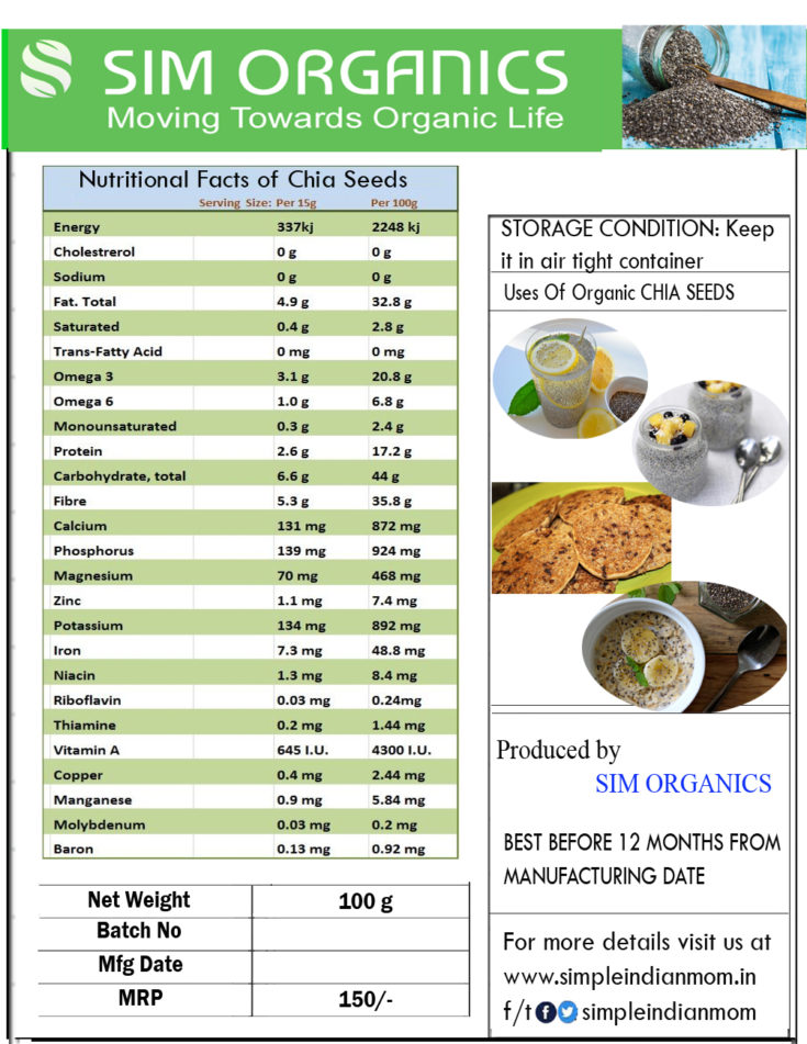 Nutritional Facts of Chia Seeds