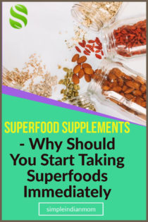 Everything around us including our food is so much loaded with chemicals that getting the right nutrients has become rare. You then are attracted to other chemical supplements which again only loads up on your chemical residue - superfoods on the other hand provide you with natural supplements, including vitamins and rare minerals.