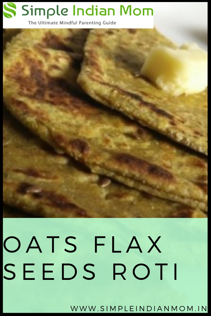 Oats Flax Seeds Roti