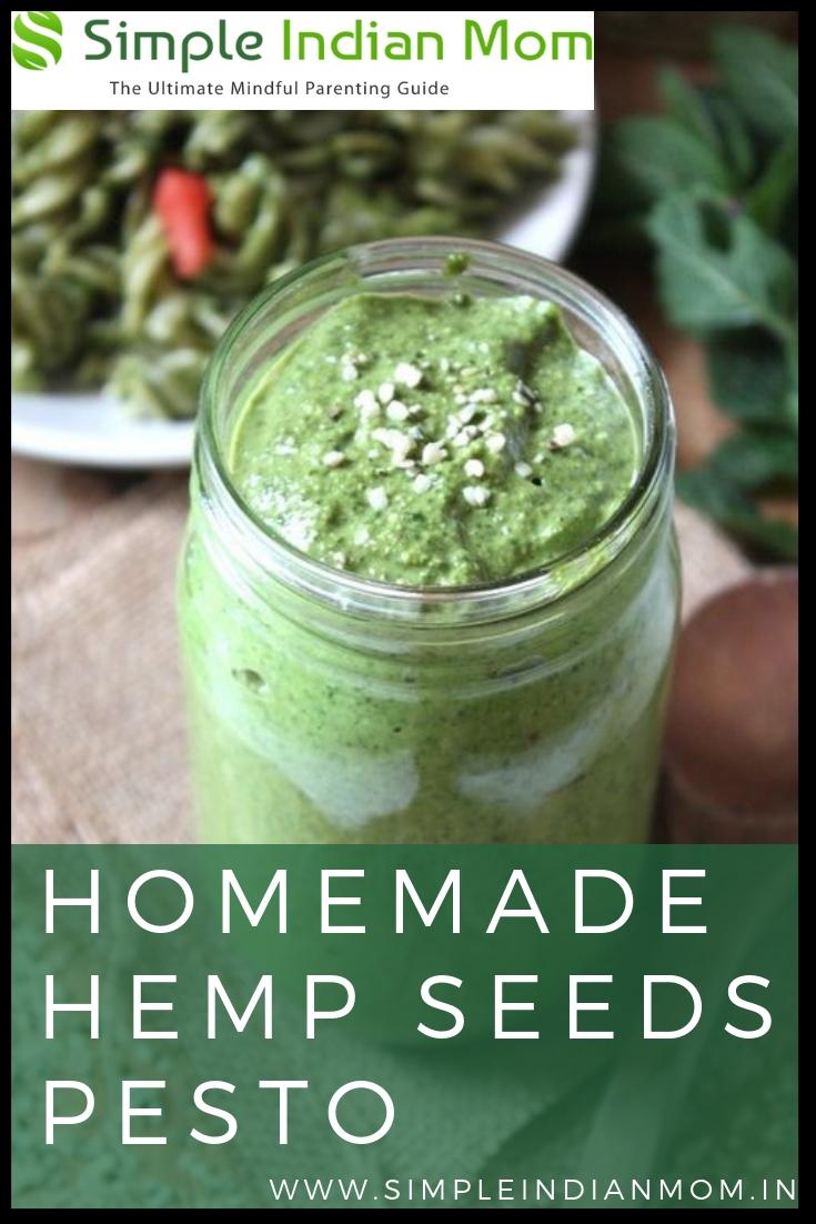 Homemade Hemp Seeds Pesto