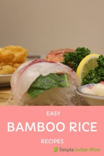 Easy Bamboo rice recipe for kids