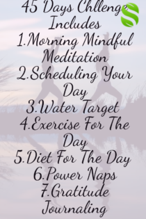 A 45 days challenge for weight loss and reduce stress and making it a habit