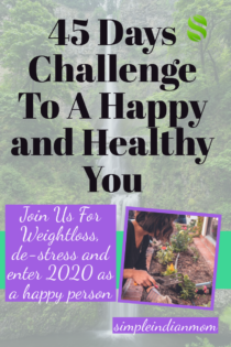 45 days challenge to a happier and healthy you
